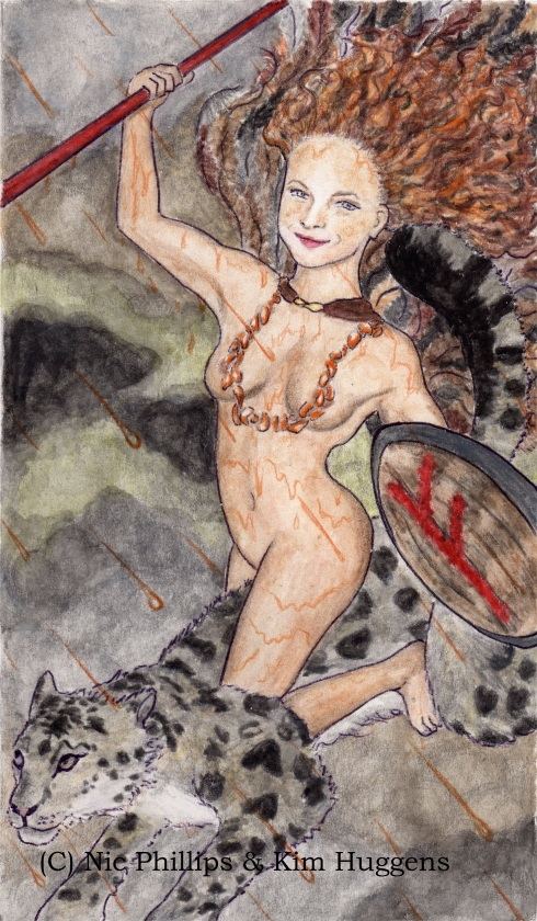 Adept (King) of Wands from Pistis Sophia: The Goddess Tarot (Copyright Nic Phillips & Kim Huggens 2012)